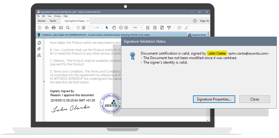 Advanced and Qualified Electronic signatures